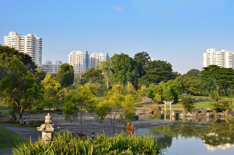 Сад японца Сингапура стоковое изображение rf