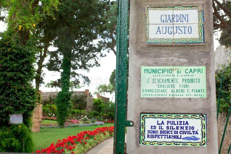 Сад Augustus Капри, Италии стоковые изображения rf