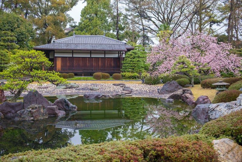 Сад Ninomaru в замке Nijo в Киото, Японии стоковые изображения rf