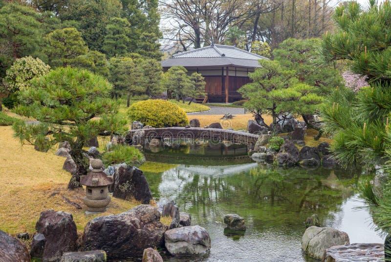 Сад Ninomaru в замке Nijo в Киото, Японии стоковое фото