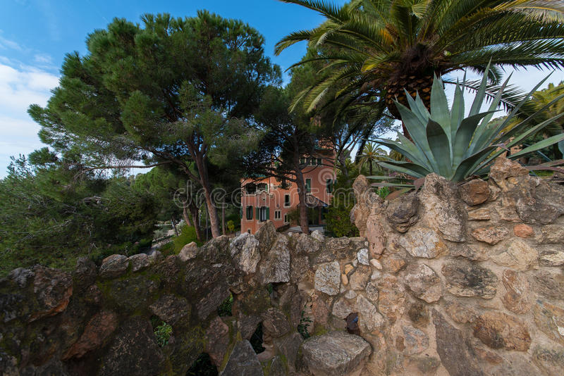 Сад Parc Guell стоковое фото rf