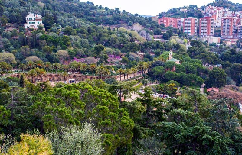 Сад Parc Guell стоковая фотография rf