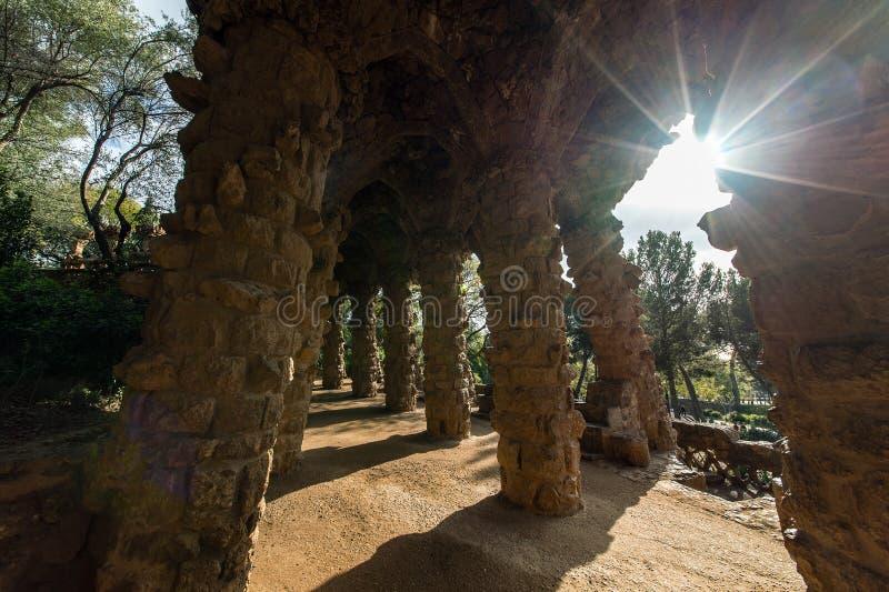 Сад Parc Guell стоковые изображения