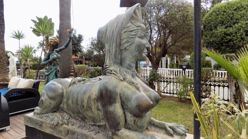 Сад Puerto Banus-Марбель-Андалуси-Испани-Европы стоковое фото