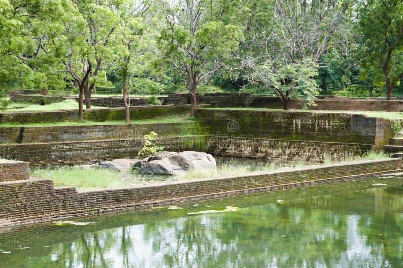 Сад Sigiriya Больдэра - Шри-Ланка стоковая фотография rf