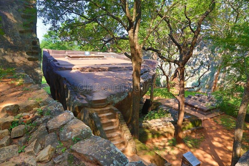 Сад Sigiriya в Шри-Ланке стоковая фотография