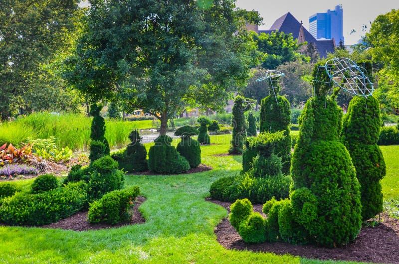 Сад Topiaray - Колумбус, Огайо стоковое изображение