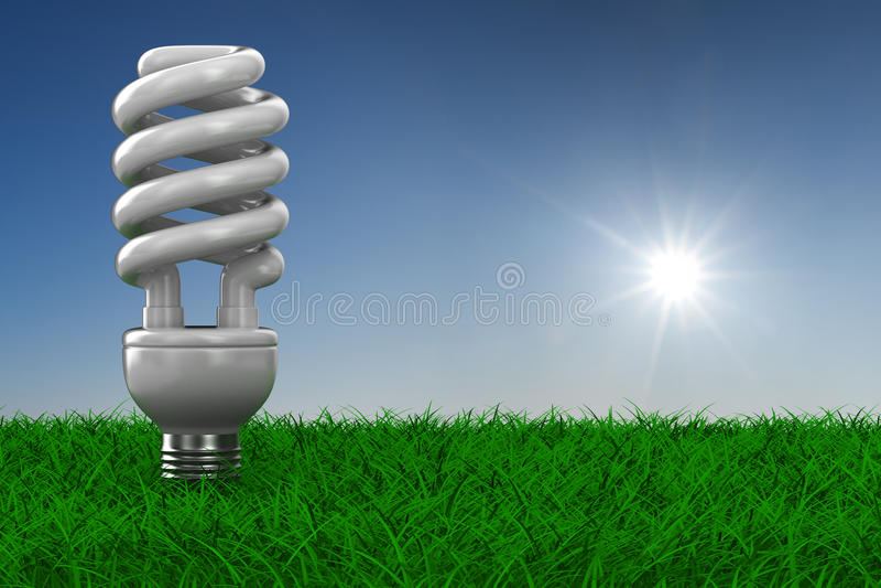 сбережениа травы энергии шарика иллюстрация вектора
