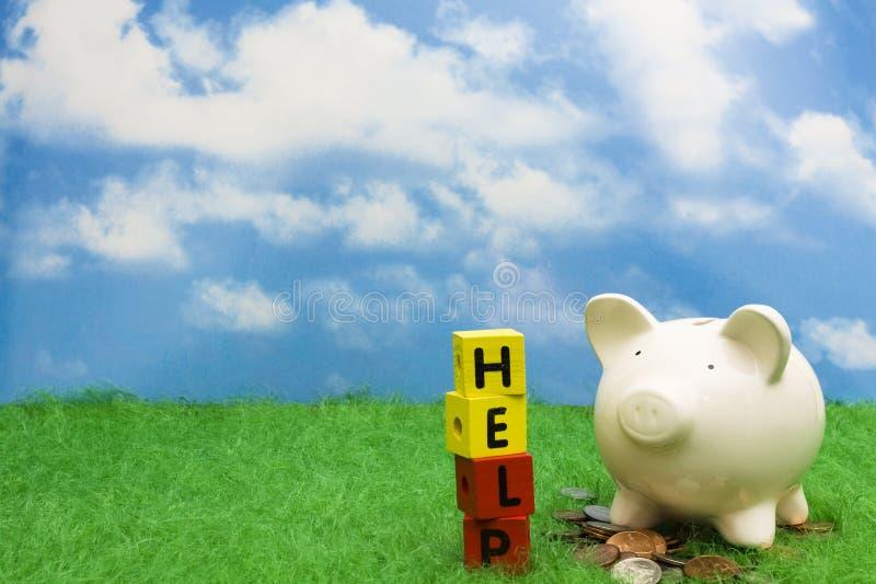 сбережения помощи стоковые фото