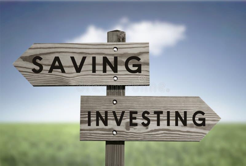 Сбережения против инвестировать бесплатная иллюстрация