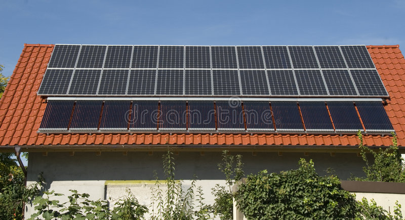 сборники солнечные стоковая фотография rf