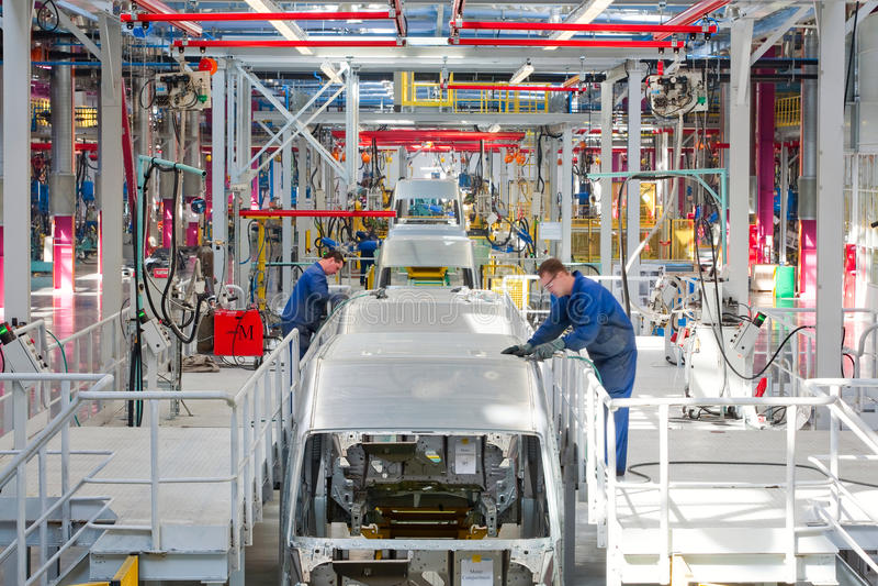 Сборочный конвейер Форд Sollers автомобиля стоковое фото rf