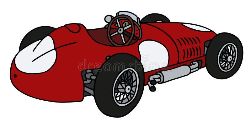 сбор винограда автомобильной гонки красный иллюстрация вектора