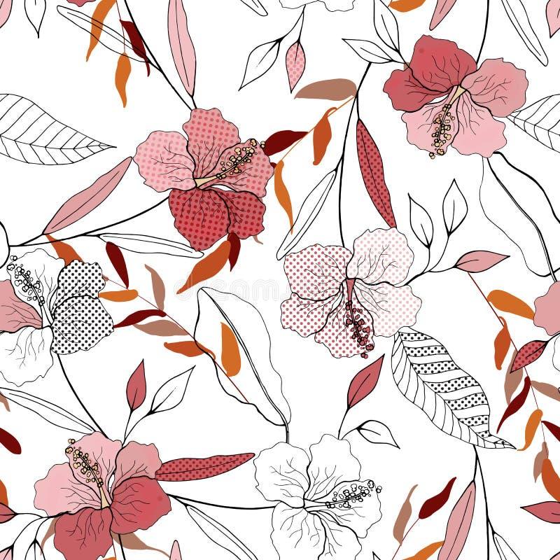 сбор винограда бумаги орнамента предпосылки геометрический старый обои Зацветая реалистическое изолированное flowe бесплатная иллюстрация