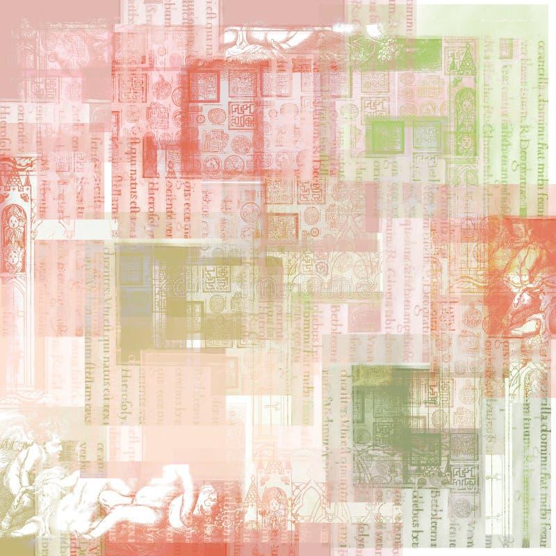сбор винограда бумаги предпосылки искусства иллюстрация штока
