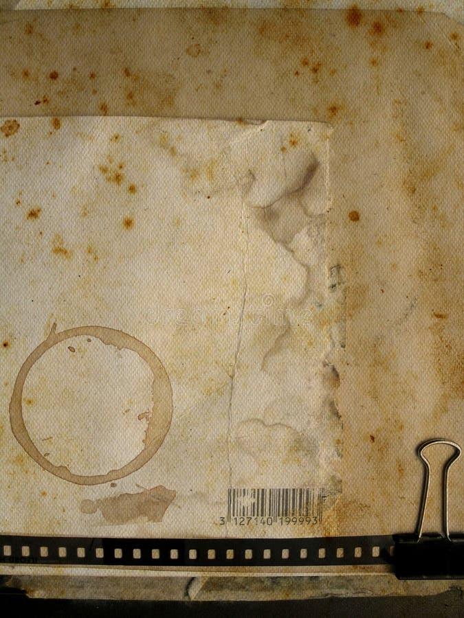 сбор винограда бумаги предпосылки иллюстрация штока