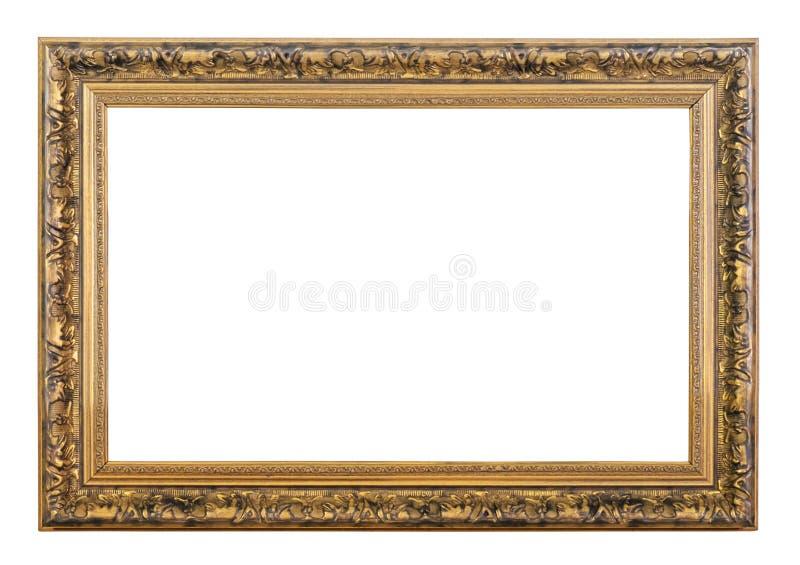 сбор винограда вектора иллюстрации рамки золотистый стоковое фото rf