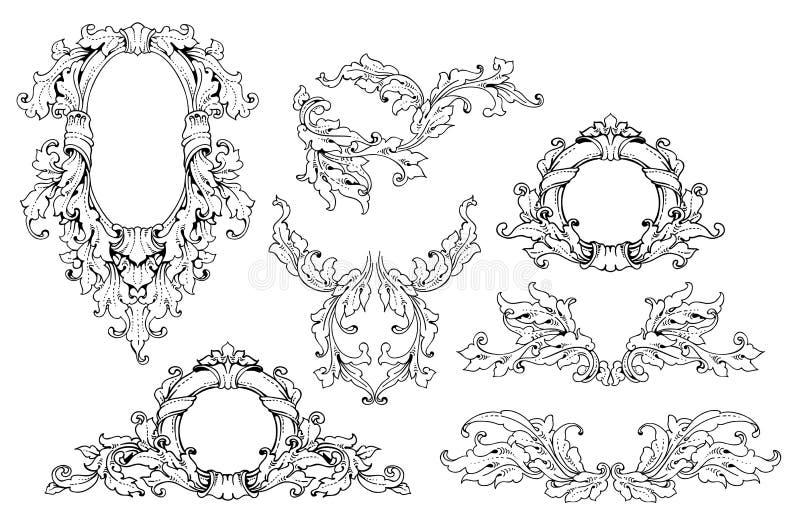 сбор винограда вектора иллюстрации установленный бесплатная иллюстрация