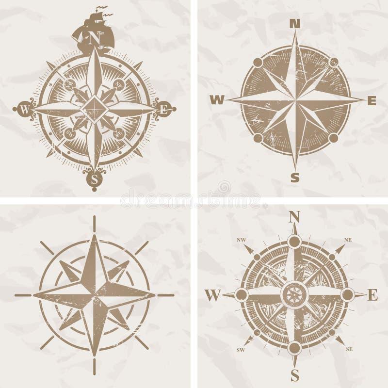 сбор винограда вектора лимба картушки компаса бесплатная иллюстрация