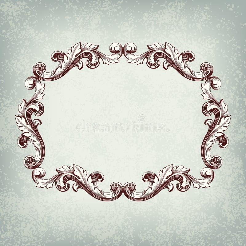 сбор винограда вектора рамки граници ретро иллюстрация вектора