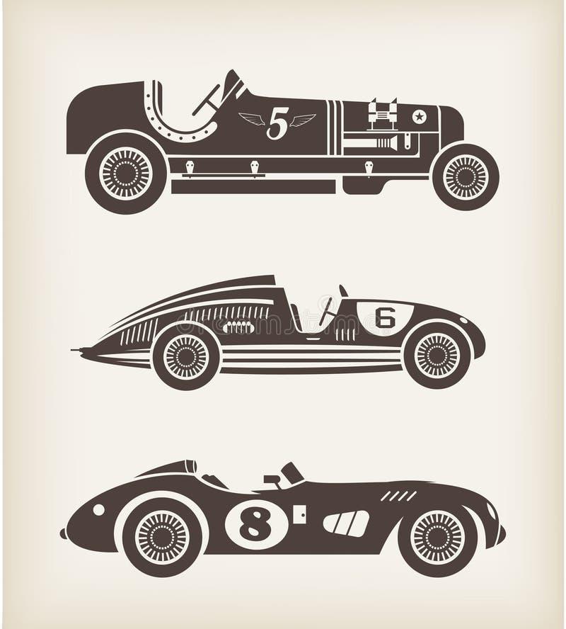 сбор винограда вектора спорта автомобильной гонки иллюстрация штока