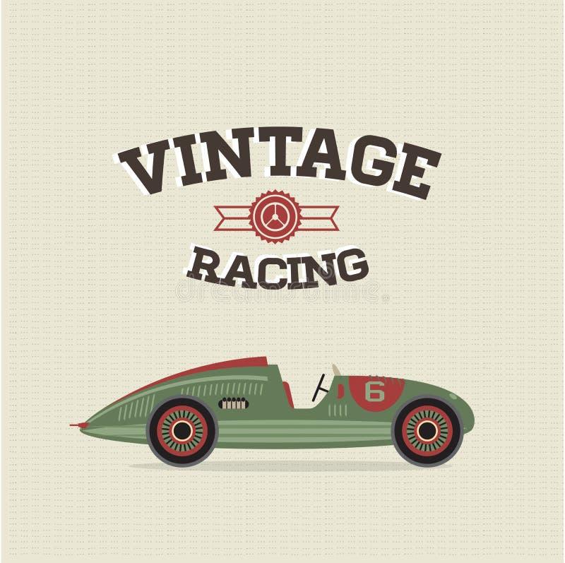 сбор винограда вектора спорта автомобильной гонки бесплатная иллюстрация