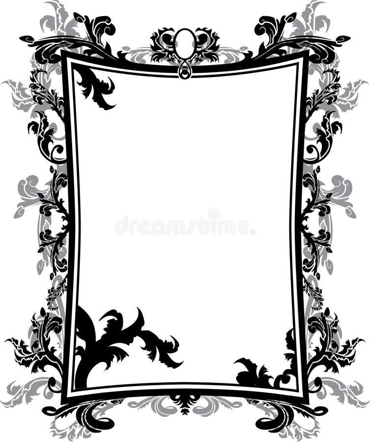 сбор винограда восковки рамки богато украшенный иллюстрация штока