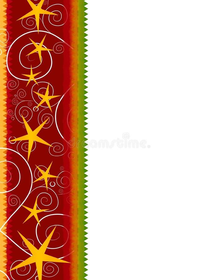 сбор винограда звезды рождества граници иллюстрация вектора