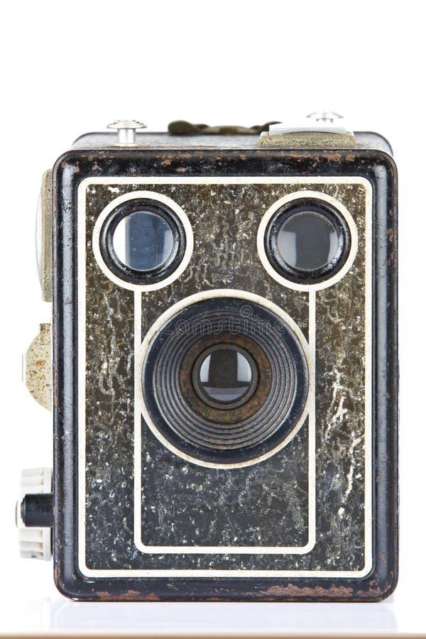 сбор винограда камеры пирожня коробки стоковые изображения