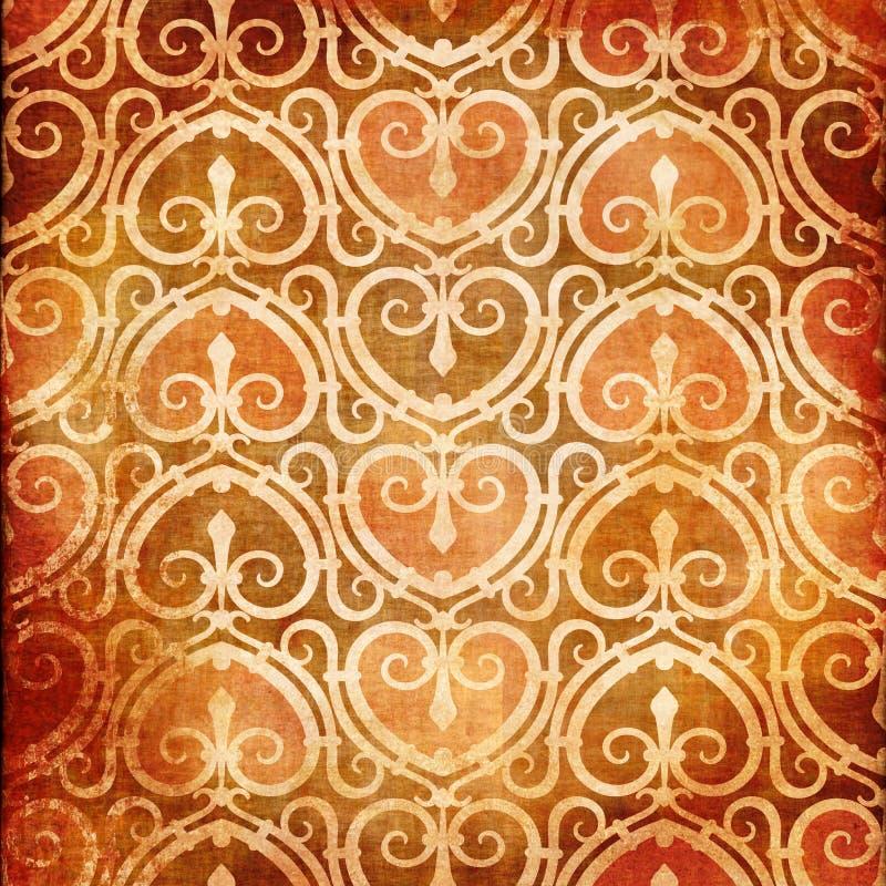 сбор винограда картины сердца иллюстрация вектора