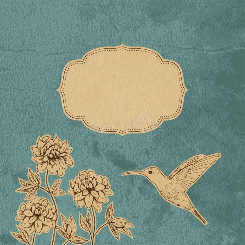 сбор винограда карточки романтичный бесплатная иллюстрация