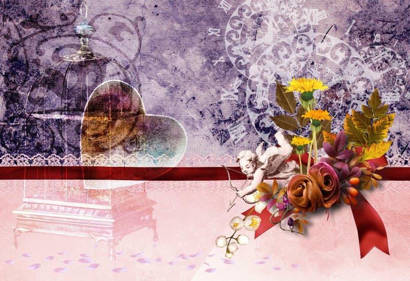сбор винограда карточки no2 стоковое изображение rf