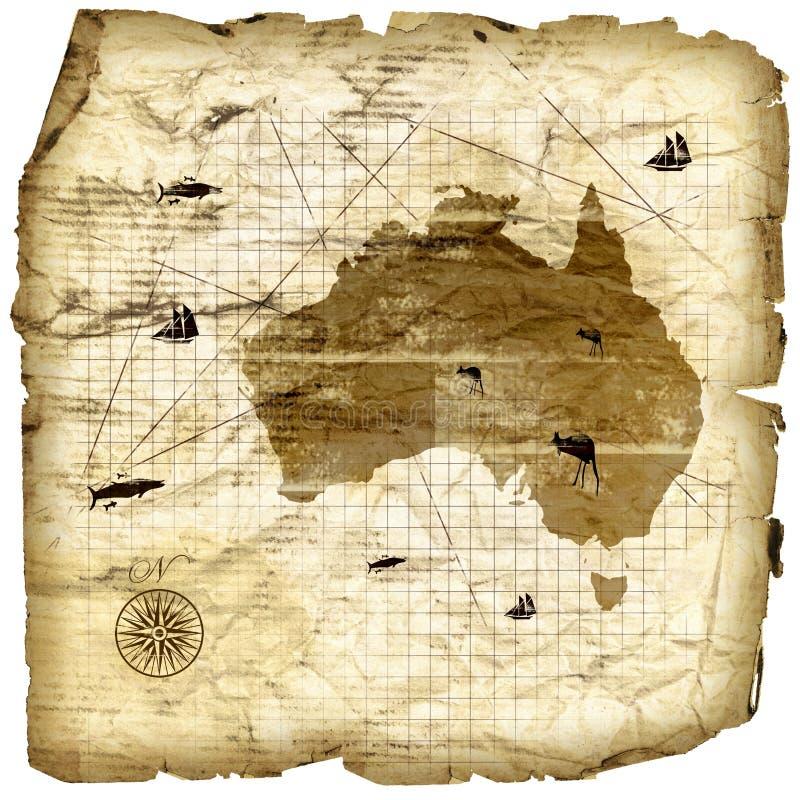 сбор винограда карты Австралии бесплатная иллюстрация