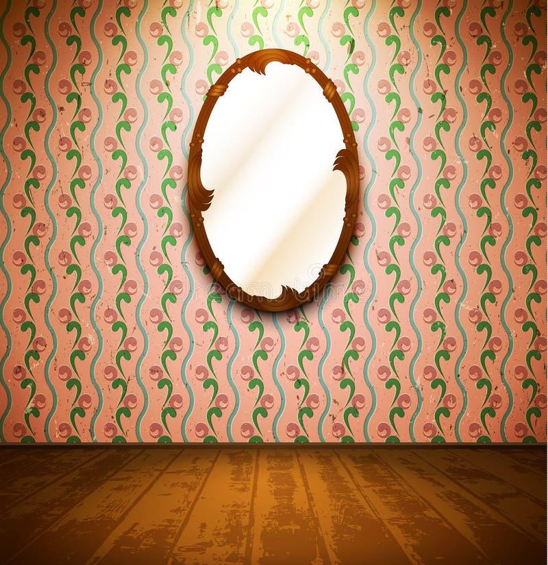 сбор винограда комнаты зеркала бесплатная иллюстрация