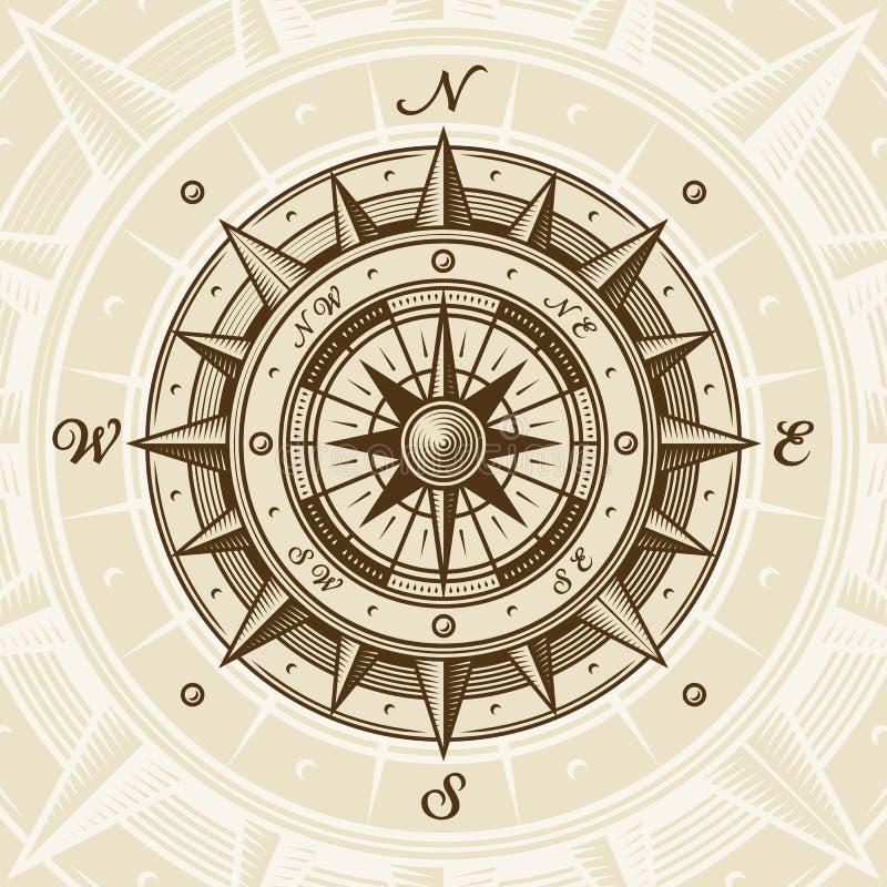 сбор винограда компаса иллюстрация вектора