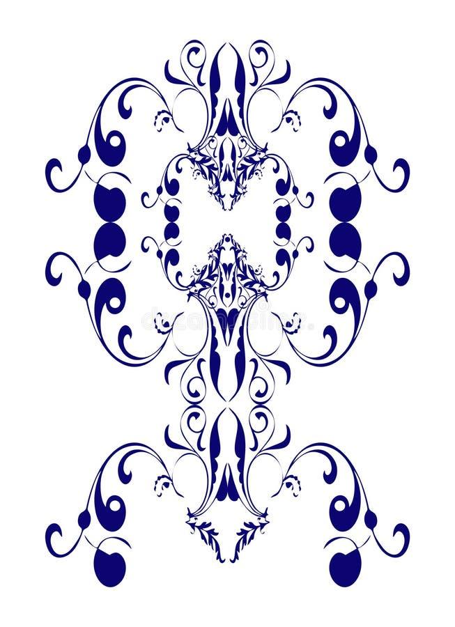 сбор винограда конструкции edwardian иллюстрация вектора