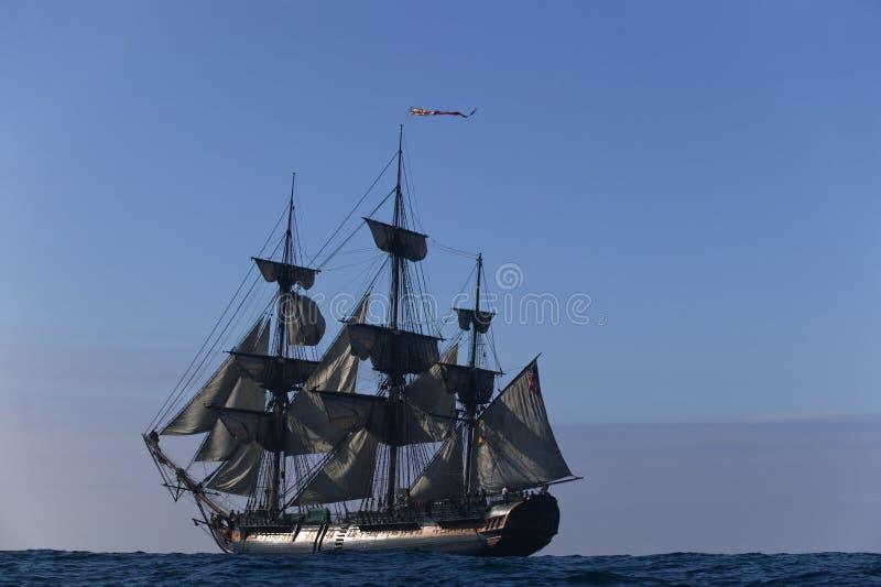 сбор винограда корабля sailing стоковое изображение