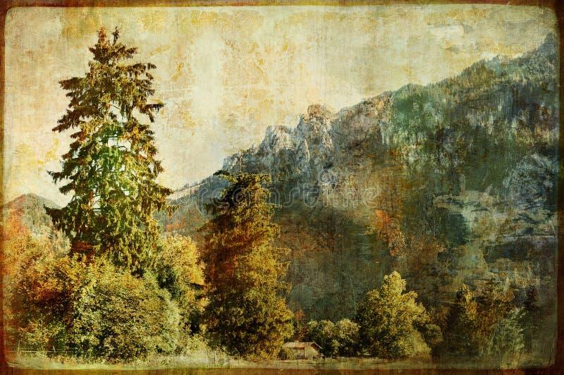 сбор винограда ландшафта иллюстрация штока