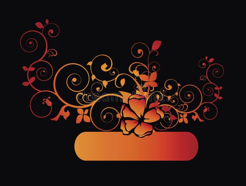 сбор винограда листва золотистый иллюстрация вектора