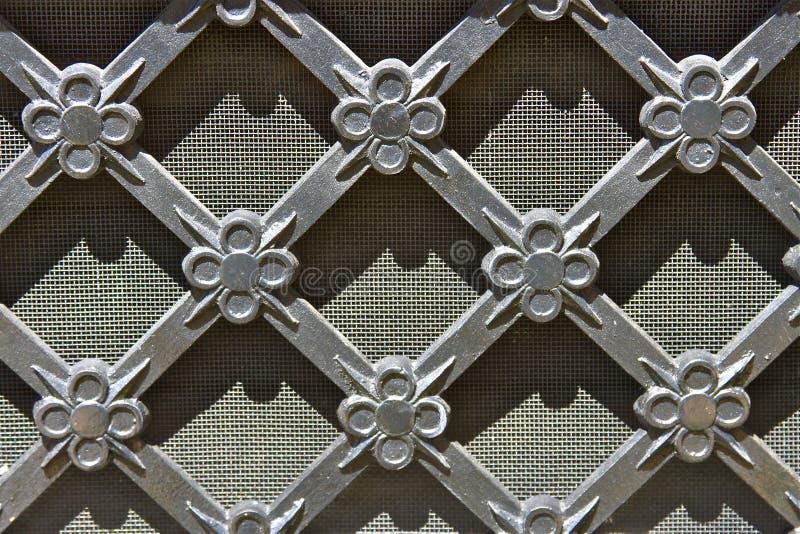 сбор винограда металла решетки стоковое фото rf