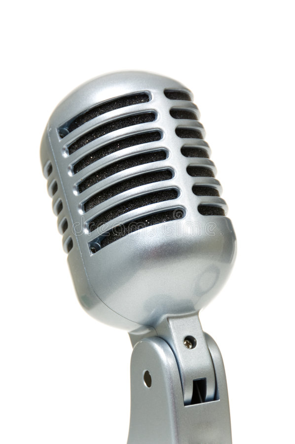 сбор винограда микрофона стоковая фотография rf