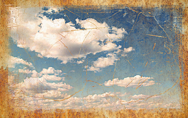 сбор винограда неба предпосылки стоковое фото