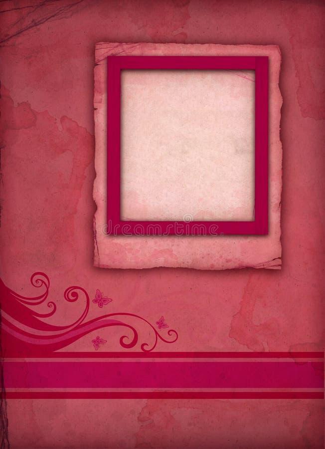 сбор винограда пинка фото рамки иллюстрация штока