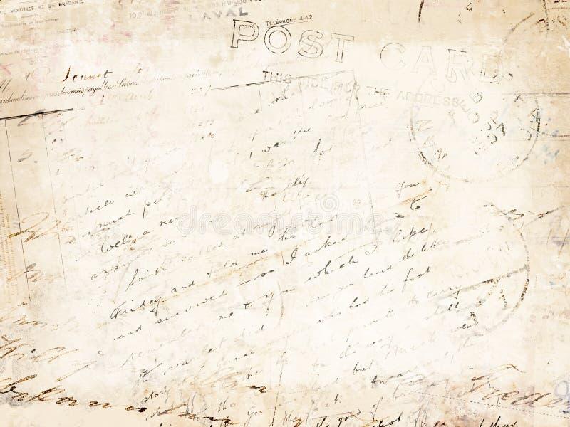 сбор винограда письма предпосылки стоковая фотография