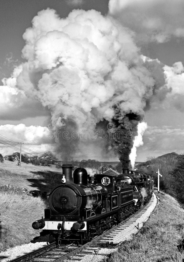 сбор винограда поезда пара страны bronte стоковое изображение rf