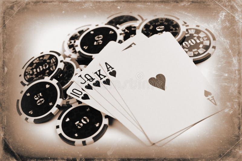 сбор винограда покера принципиальной схемы стоковые фото