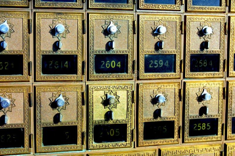 сбор винограда почты старый s способа коробки стоковое фото