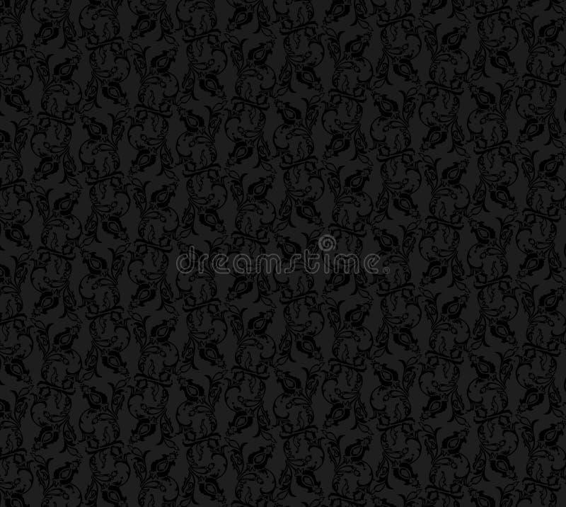 сбор винограда предпосылки черный иллюстрация вектора
