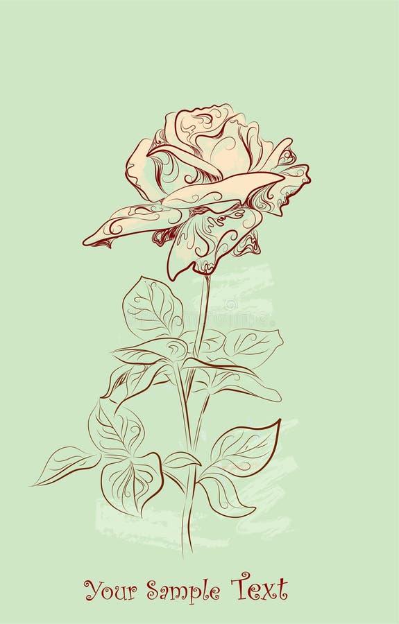 сбор винограда приветствию карточки розовый бесплатная иллюстрация