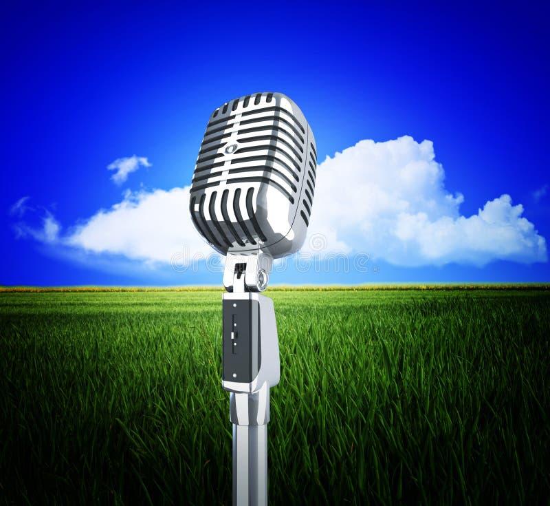 сбор винограда природы микрофона стоковые изображения